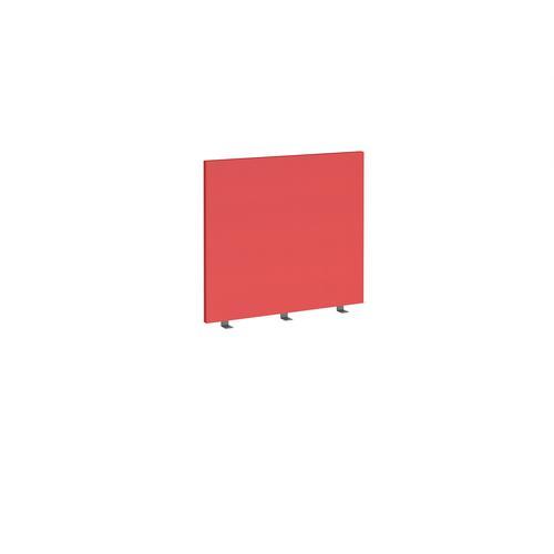 Straight high desktop fabric screen 800mm x 700mm - pitlochry red