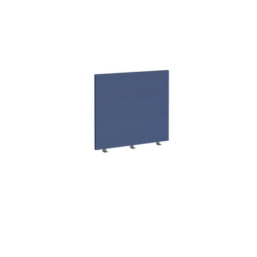 Straight high desktop fabric screen 800mm x 700mm - cluanie blue