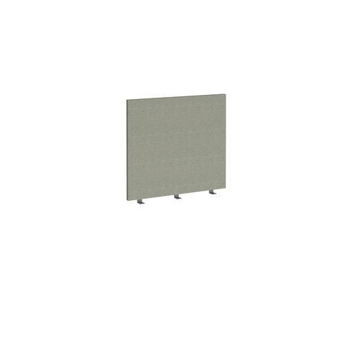 Straight high desktop fabric screen 800mm x 700mm - hillswick grey