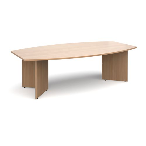 Radial End Boardroom Table 2400x1300mm Beech ERB24B