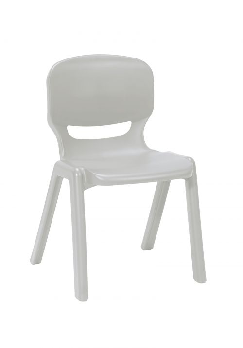 Ergos versatile one piece educational chair for age 14-16 (box of 4) - grey