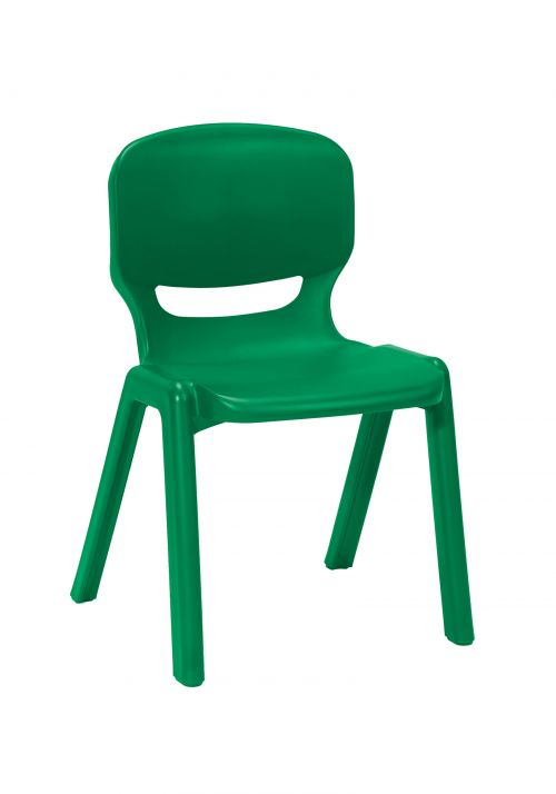 Ergos versatile one piece educational chair for age 14-16 (box of 4) - green