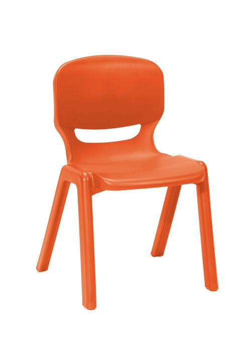 Ergos versatile one piece educational chair for age 14-16 (box of 4) - orange