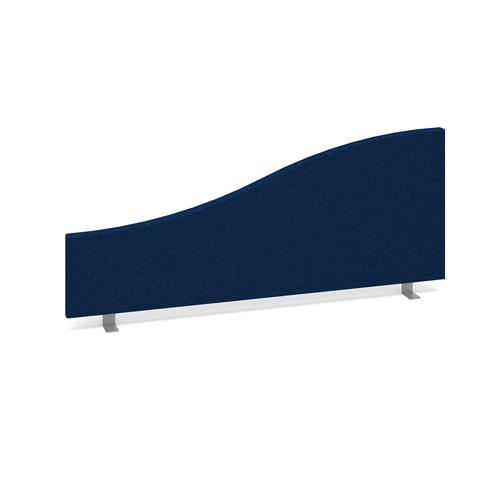 Wave desktop fabric screen 1000mm x 400mm/200mm - blue