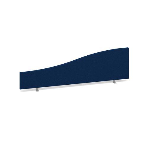 Wave desktop fabric screen 1400mm/200mm x 400mm/200mm - blue