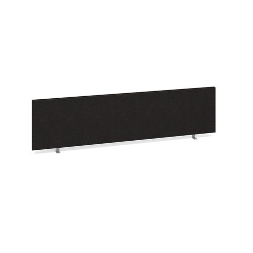 Straight desktop fabric screen 1600mm x 400mm - charcoal
