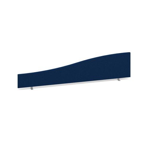 Wave desktop fabric screen 1800mm x 400mm/200mm - blue