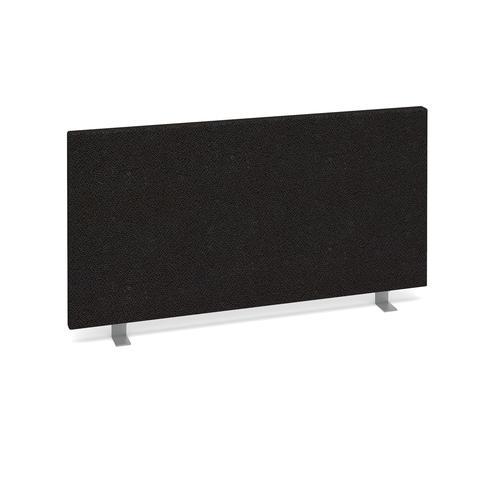 Straight desktop fabric screen 800mm x 400mm - charcoal