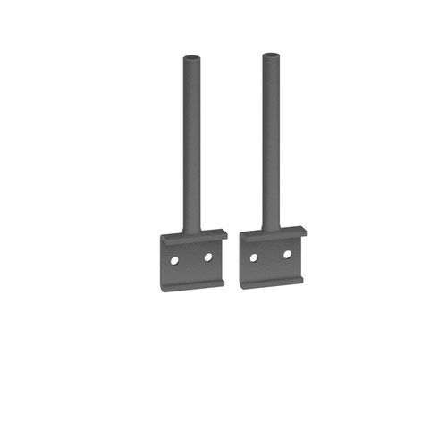 Universal fabric screen return desk brackets (pair)