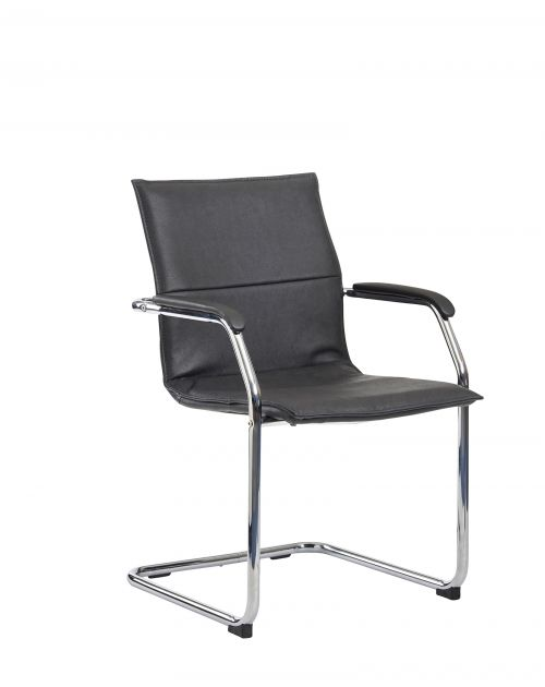 Essen Conference/Meeting Chair Black Leather ESS100C2