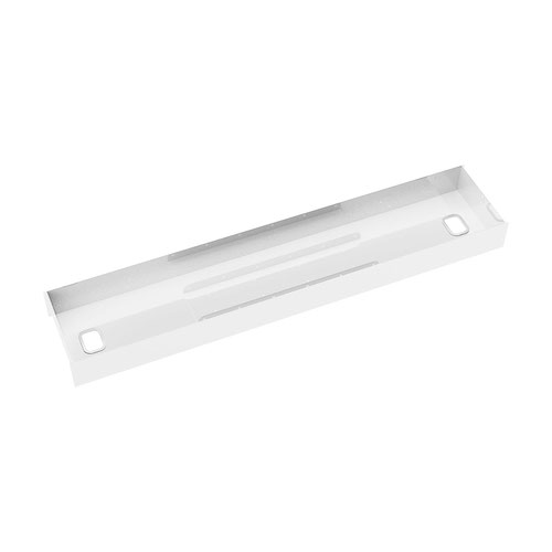 Elev8 lower cable channel with cover for back-to-back 1400mm desks - white