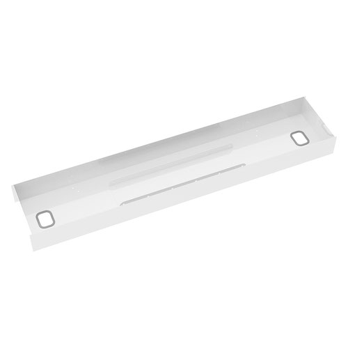 Elev8 lower cable channel with cover for back-to-back 1600mm desks - white