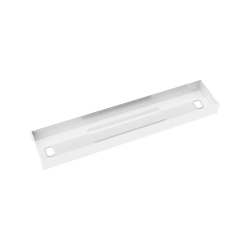 Elev8 lower cable channel with cover for back-to-back 1200mm desks - white