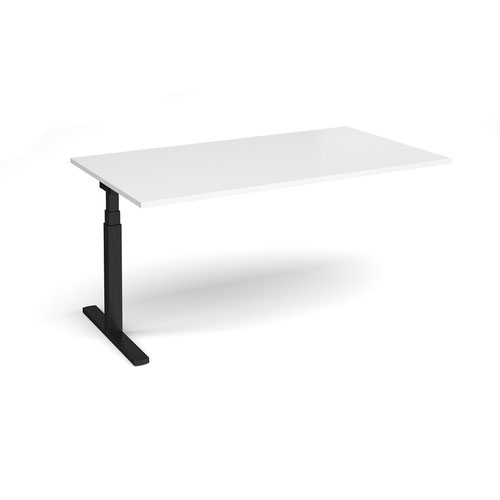 Elev8 Touch boardroom table add on unit 1800mm x 1000mm - black frame and white top