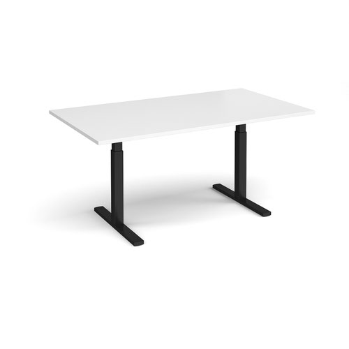 Elev8 Touch boardroom table 1800mm x 1000mm - black frame and white top