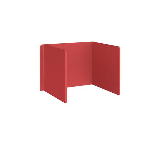 Free-standing 3-sided 700mm high fabric desktop screen 1000mm wide - pitlochry red