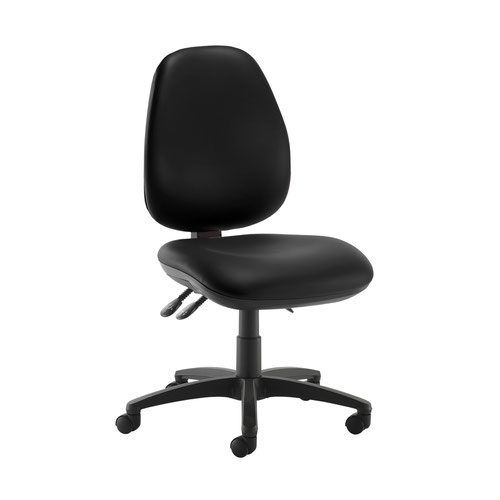Jota high back operator chair with no arms - Nero Black vinyl