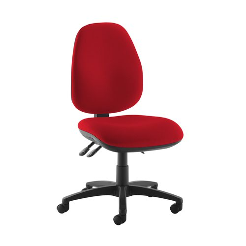 Jota high back operator chair with no arms - Panama Red