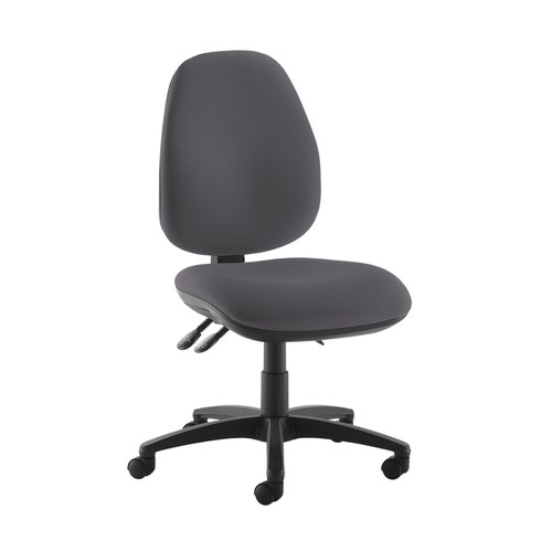 Jota high back operator chair with no arms - Blizzard Grey