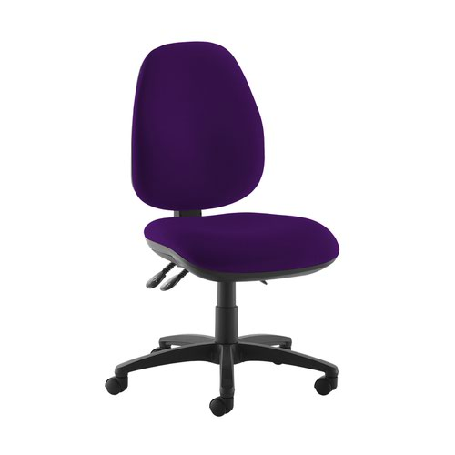 Jota high back operator chair with no arms - Tarot Purple