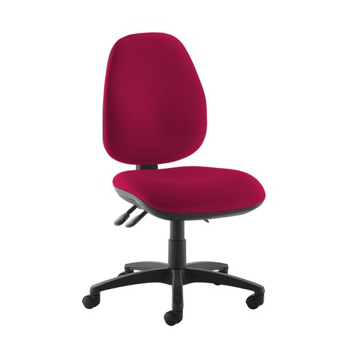 Jota high back operator chair with no arms - Diablo Pink