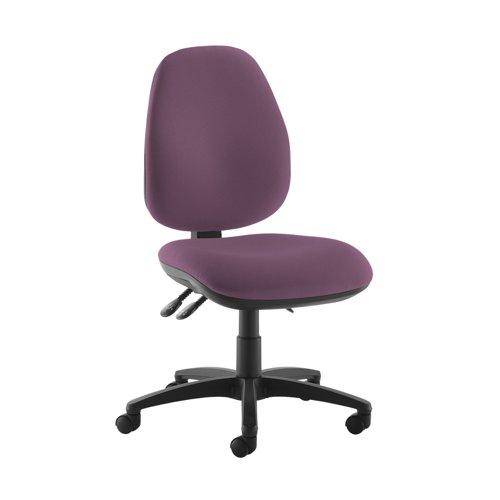 Jota high back operator chair with no arms - Bridgetown Purple