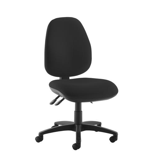 Jota high back operator chair with no arms - black