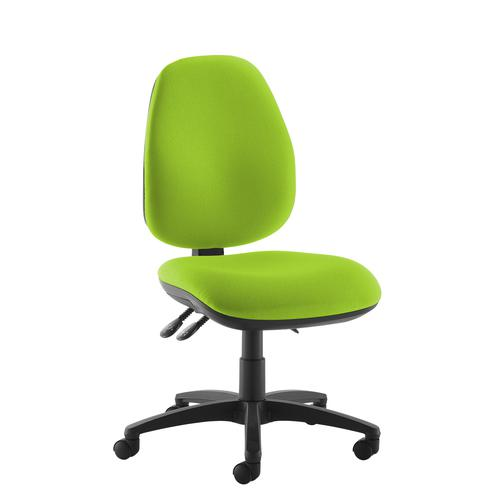 Jota high back operator chair with no arms - green