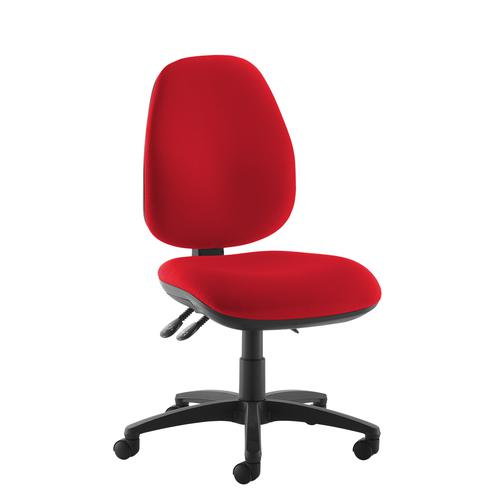 Jota high back operator chair with no arms - red