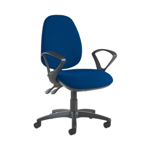 Jota high back operator chair with fixed arms - Curacao Blue