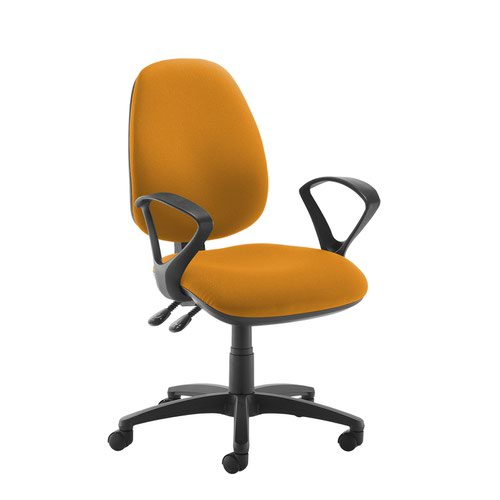 Jota high back operator chair with fixed arms - Solano Yellow