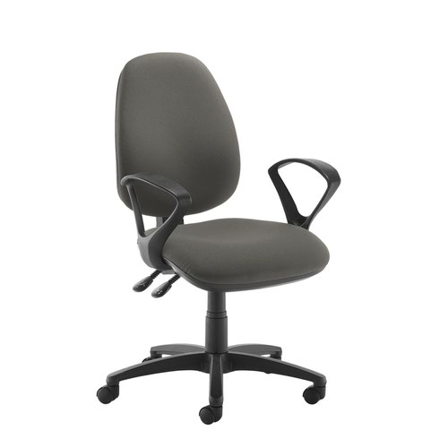 Jota high back operator chair with fixed arms - Slip Grey