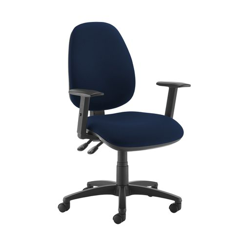 Jota high back operator chair with adjustable arms - Costa Blue