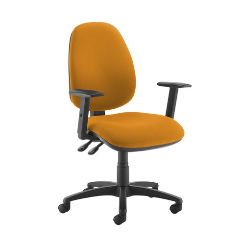 Jota high back operator chair with adjustable arms - Solano Yellow
