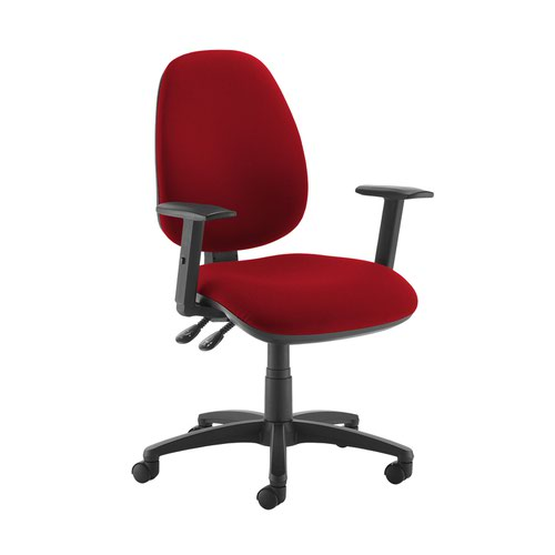 Jota high back operator chair with adjustable arms - Panama Red