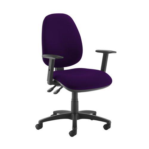 Jota high back operator chair with adjustable arms - Tarot Purple