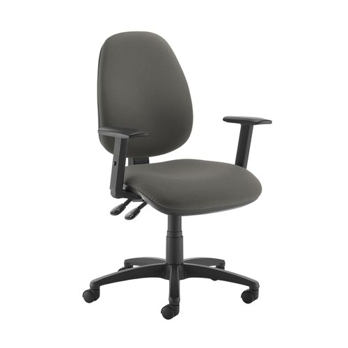 Jota high back operator chair with adjustable arms - Slip Grey