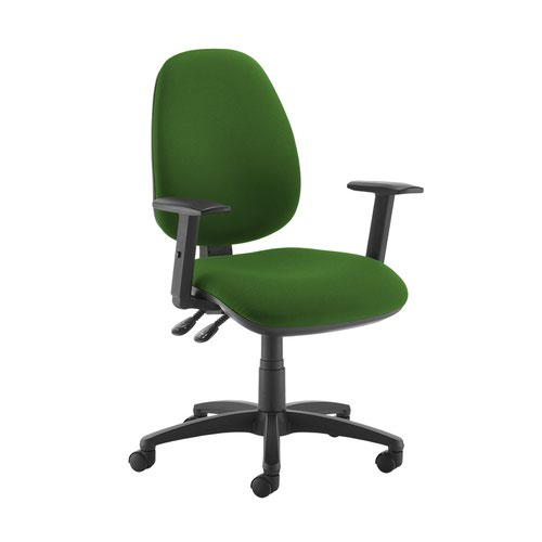 Jota high back operator chair with adjustable arms - Lombok Green