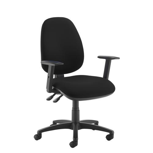 Jota high back operator chair with adjustable arms - black