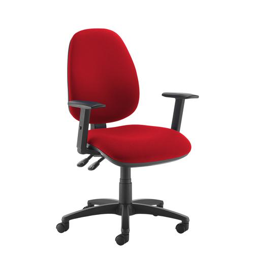 Jota high back operator chair with adjustable arms - red