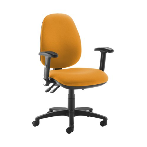 Jota high back operator chair with folding arms - Solano Yellow