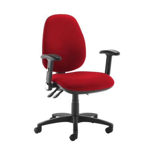 Jota high back operator chair with folding arms - Panama Red