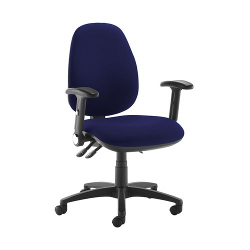 Jota high back operator chair with folding arms - Ocean Blue