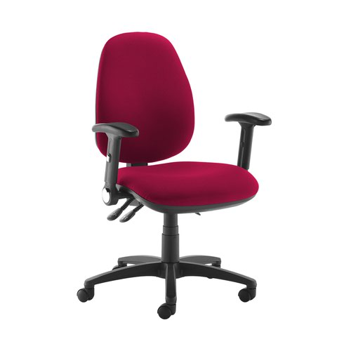 Jota high back operator chair with folding arms - Diablo Pink