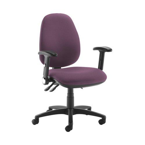 Jota high back operator chair with folding arms - Bridgetown Purple