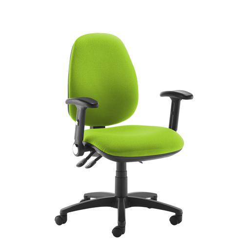 Jota high back operator chair with folding arms - green