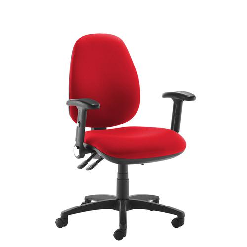 Jota high back operator chair with folding arms - red