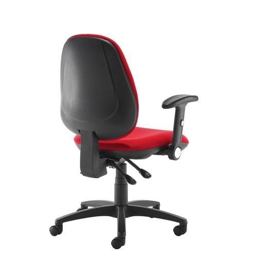 Jota high back operator chair with folding arms - red Office Chairs JH46-000-RED