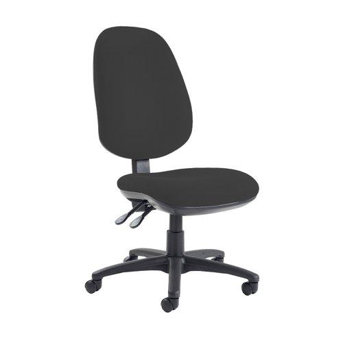 Jota extra high back operator chair with no arms - Havana Black