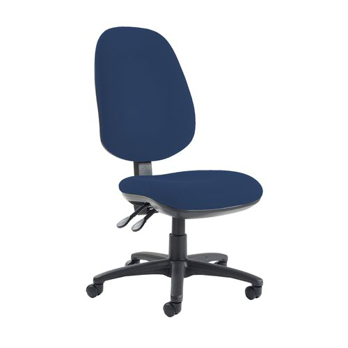 Jota extra high back operator chair with no arms - Costa Blue